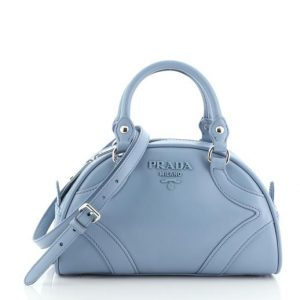 Prada Bowling Convertible Handle Bag Leather Small