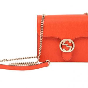 Gucci Orange GG Interlocking Crossbody