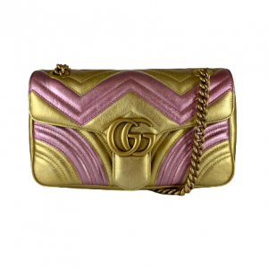 Gucci Limited Edition Bicolour Marmont Shoulder Bag