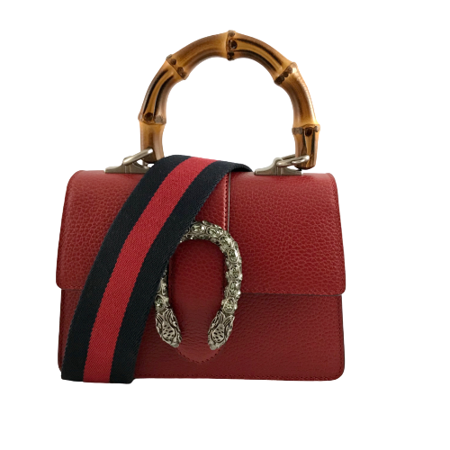 Gucci Hibiscus Red Dionysus Mini Bamboo Top Handle Bag