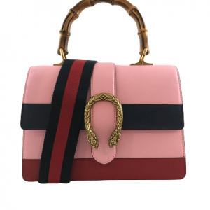 Gucci Pink Medium Dionysus Bamboo Top Handle Bag
